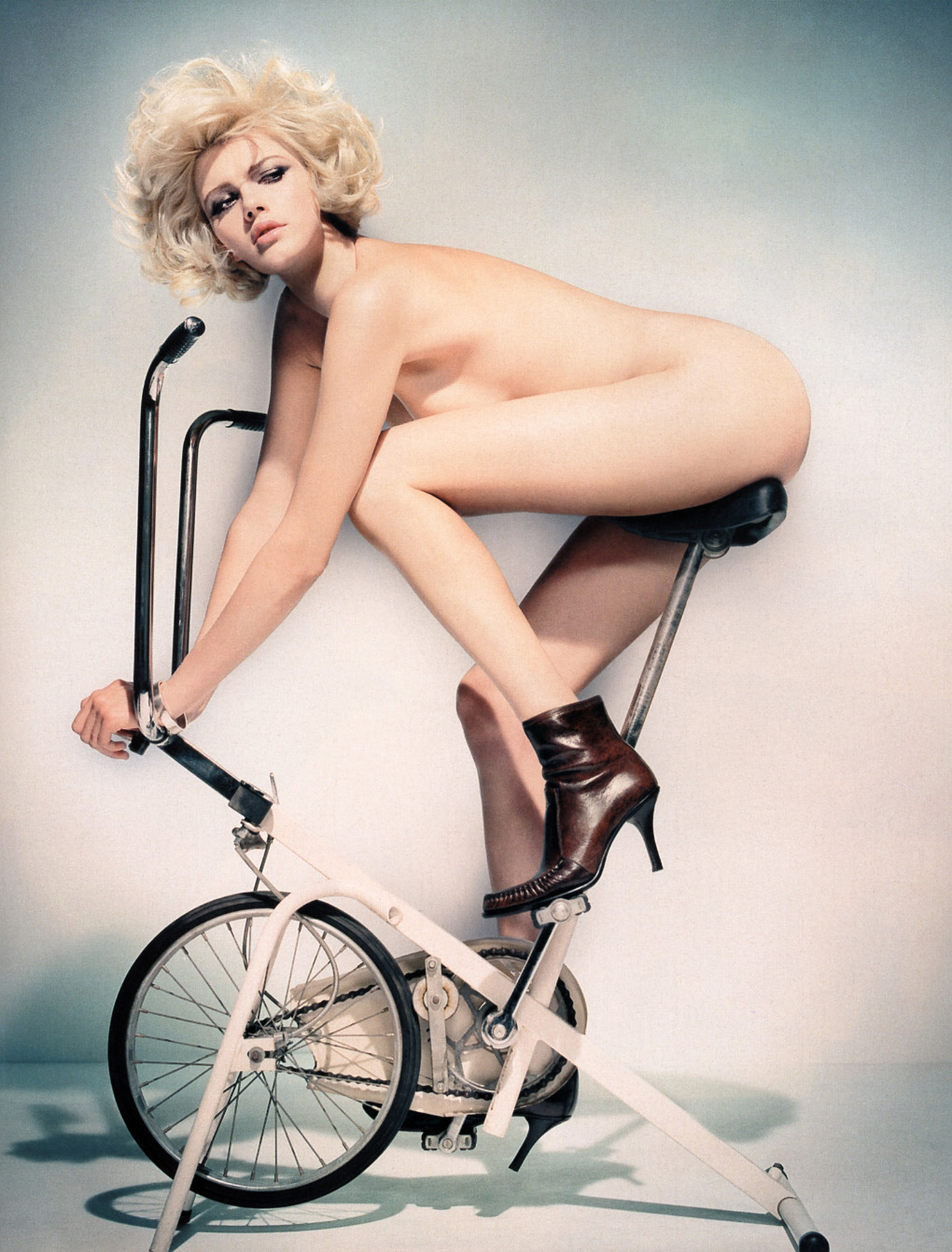 Question Naked on exercise bike were