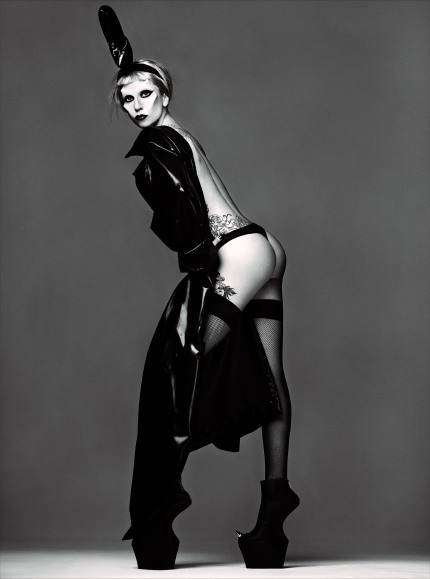 Lady Gaga by Mariano Vivanco with bum for Born This Way