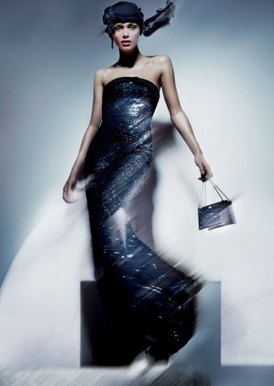 Elisa Sednaoui by Nick Knight for Armani
