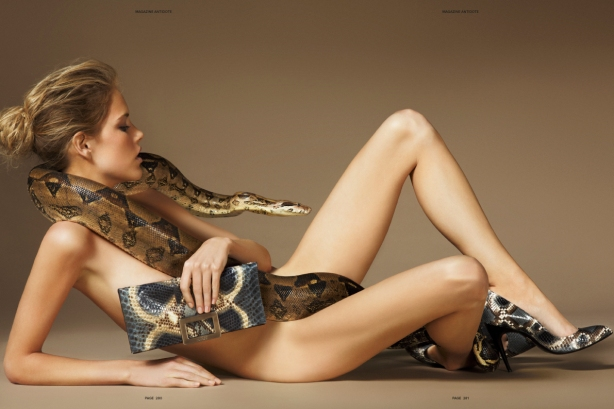 Ashley Smith with snake by Giampaolo Sgura for Antidote