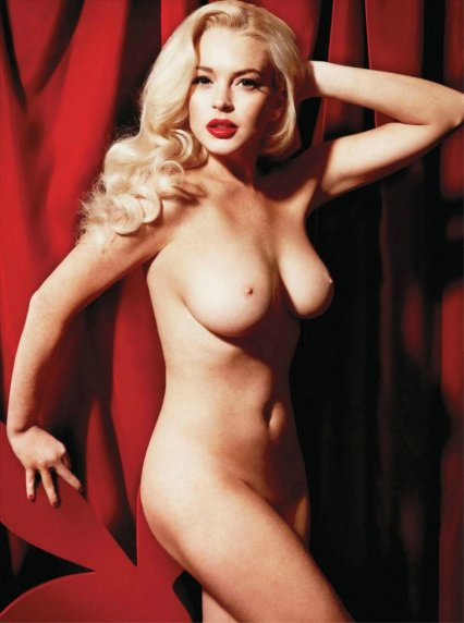 Lindsay Lohan nude for Playboy by Yu Tsai