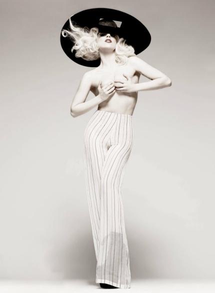 Lady Gaga semi nude by Tom Munro