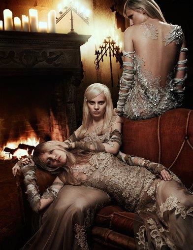 Steffi Soede and Daria Popova by Christian Ferretti for Interview Russia