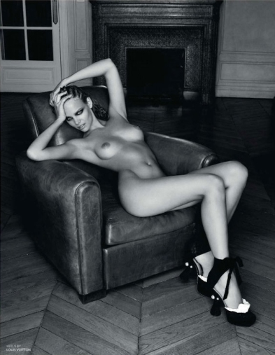 Marloes Horst nude by Paul Empson for Black