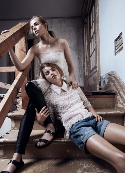 Rosie Tapner & Kristine Froseth by Lachlan Bailey